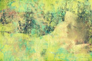 grunge meditation background