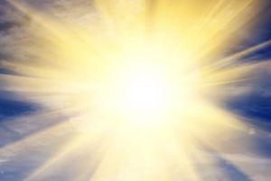 Explosion of light towards heaven, sun. Religion, God