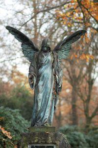 An angel in autumn light