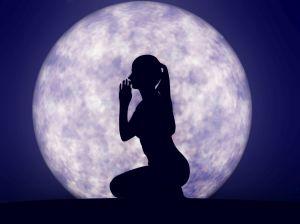 Full moon prayer - 3D render