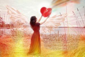 Angel with the broken heart