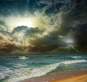 Folly Beach Ocean Sunset
